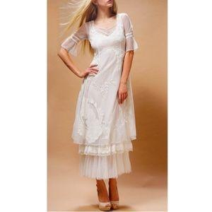 NWT Nataya White Romance Dress Gown S M L XL